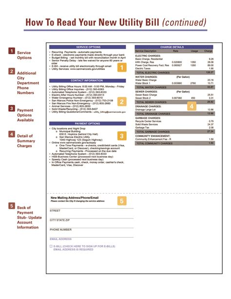 How To Read Your Utility Bill | City of San Marcos, TX