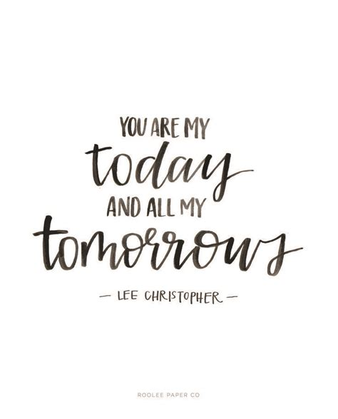 You Are My Today And All My Tomorrows   ROOLEE