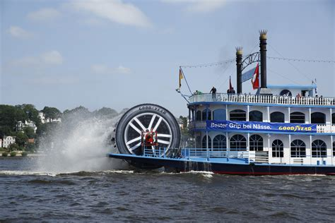 Goodyear Outfits Steamboat Paddle Wheel With Tire