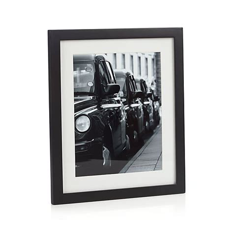 Matte Black 8x10 Picture Frame   Crate and Barrel
