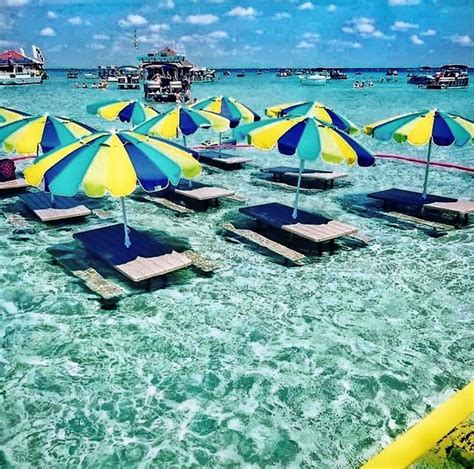 ⛱Crab Island is an aquatic playground and not to be missed