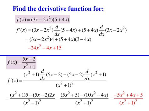 PPT - The Derivative-Instantaneous rate of change