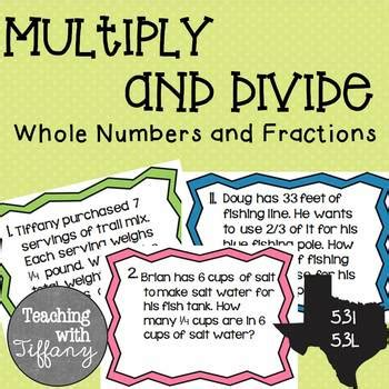 Multiply & Divide Whole Numbers and Fractions Word Problem