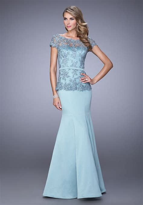 La Femme Evening 21706 Mother Of The Bride Dress   The Knot