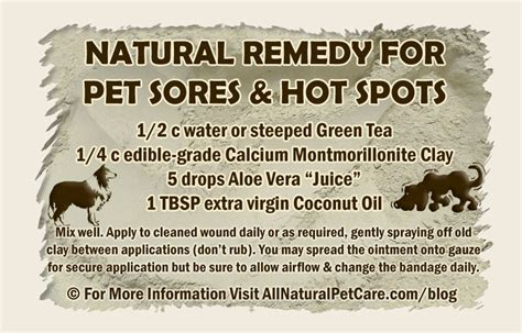 Natural Remedy Recipe for Pet Sores and 'Hot Spots'