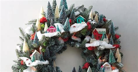 How to Make a Magical Christmas Wreath of Village